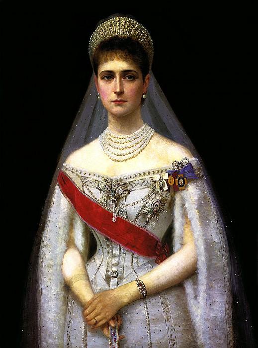 GALKIN Ilya - Empress Alexandra Feodorovna. 900 Classic russian paintings