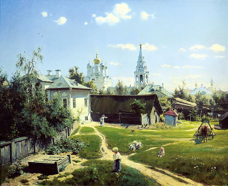 Polenov Vasily - Moscow Yard. 900 Classic russian paintings