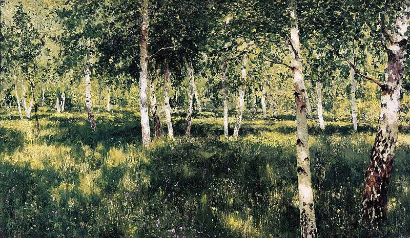 Isaak Levitan - Birchwood. 900 Classic russian paintings