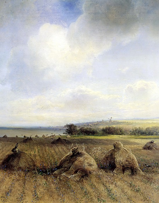 Alexei Savrasov - By the end of the summer on the Volga. 900 Classic russian paintings
