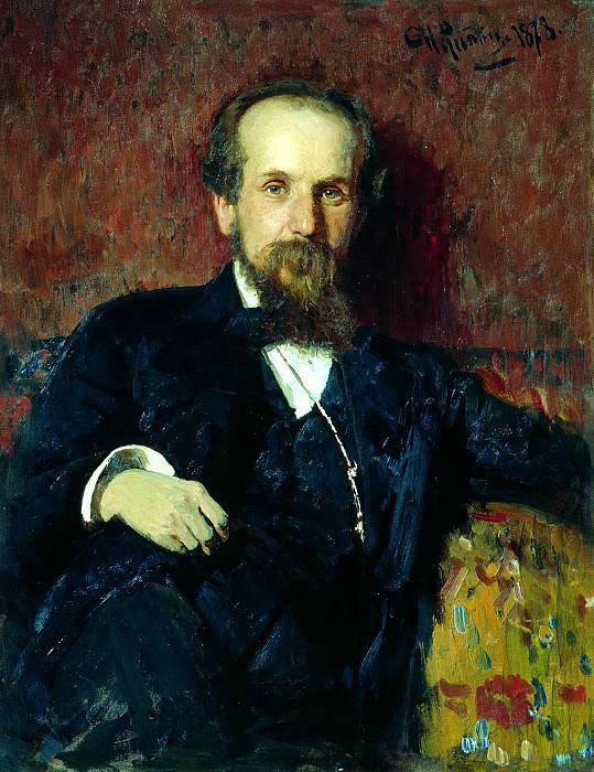 Ilya Repin - Portrait of Pavel Chistyakov. 900 Classic russian paintings