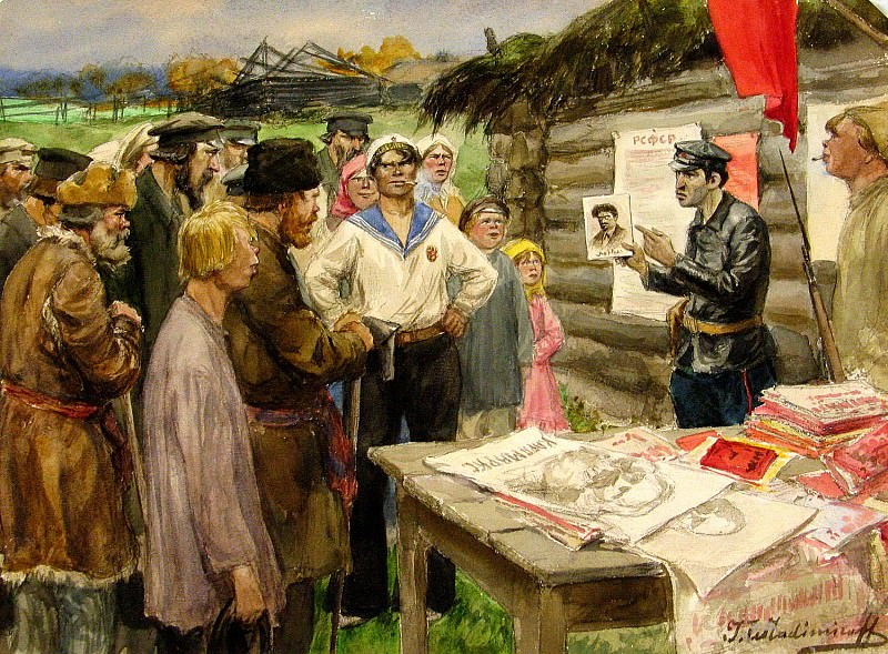 Vladimir Ivanov - Revolutionary Watercolor. 900 Classic russian paintings