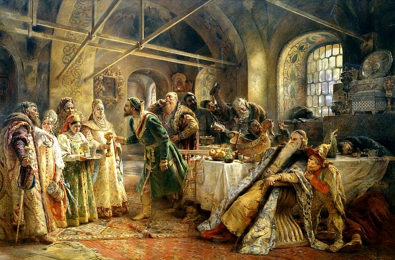 MAKOVSKY Constantine - Kissing ceremony. 900 Classic russian paintings