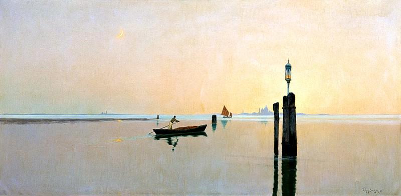 Bergholz, Richard - Laguna in Murano. 900 Classic russian paintings