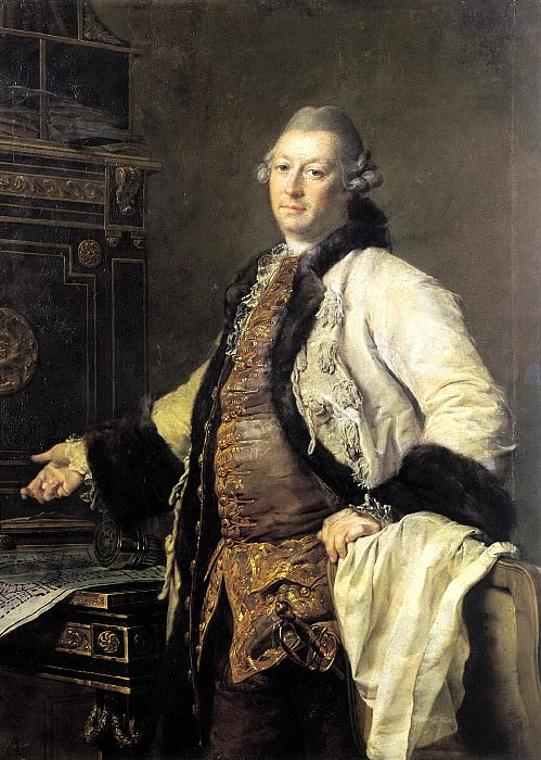 Levitsky Dmitry - Portrait of the architect Alexander Filippovich Kokorinova. 900 Classic russian paintings