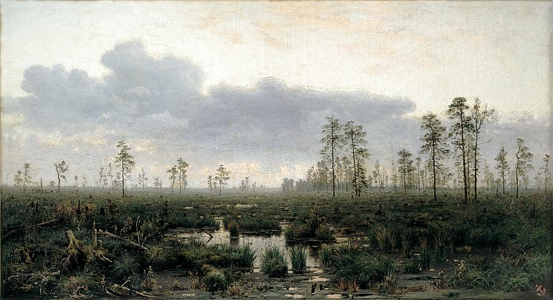Menke Vladimir - Morning on the marsh. 900 Classic russian paintings