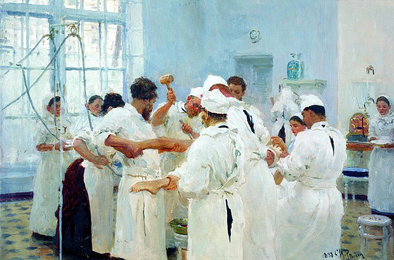 Ilya Repin - Pavlov in the operating room. 900 Classic russian paintings
