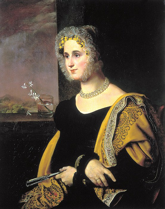 Kiprensky Orestes - Portrait of Catherine Sergeevna Avdulinoy. 1822. 900 Classic russian paintings