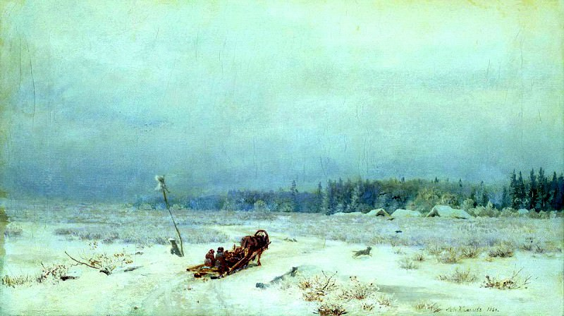Brick Leo - Winter road. 900 Classic russian paintings