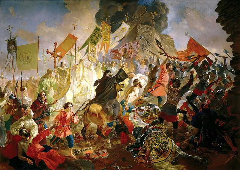 BRYULLOV Carl - The Siege of Pskov, the Polish King Stephen Bathory in 1581. 900 Classic russian paintings
