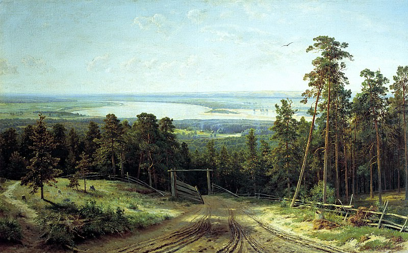 Shishkin Ivan - Kama near Yelabuga. 900 Classic russian paintings