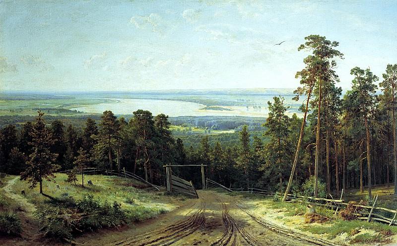 Shishkin Ivan - Kama near Yelabuga. 900 Classic russian paintings