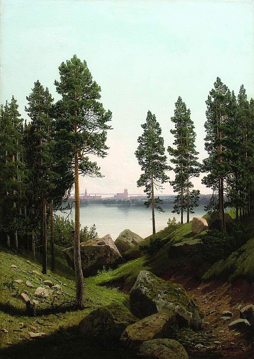Meshchersky Arseny - Landscape with a lake. 900 Classic russian paintings
