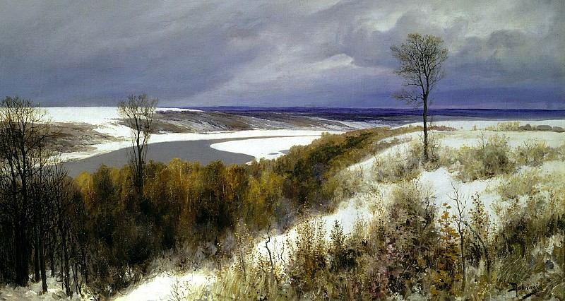 Polenov Vasily - Early Snow. 900 Classic russian paintings