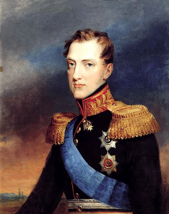 Golikov Basil - Portrait of Grand Duke Nicholas. 900 Classic russian paintings