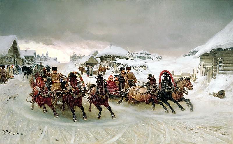 Georgian Peter - Carnival. 900 Classic russian paintings