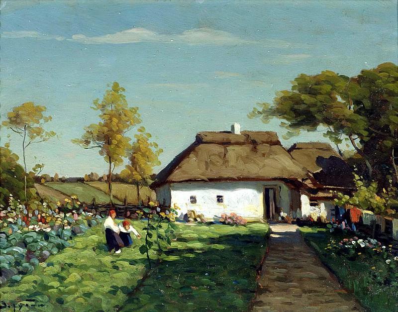 ZARUBIN Victor - Ukrainian farmstead. 900 Classic russian paintings