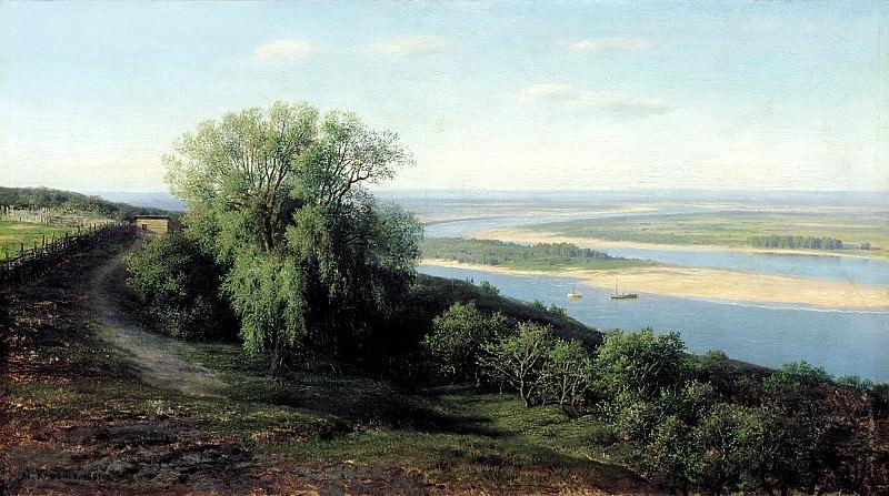 Klodt Mikhail (K.) - Volga near Simbirsk. 1881. 900 Classic russian paintings