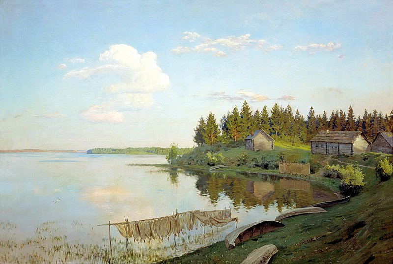 Levitan Isaac - On the lake. 900 Classic russian paintings