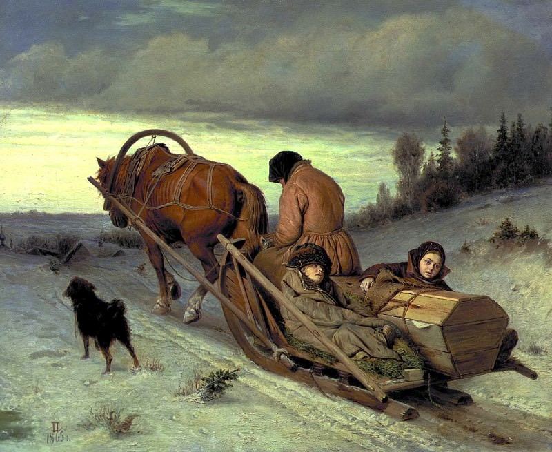 Perov Vasily - Journey. 900 Classic russian paintings