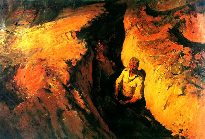 NEMENSKY Boris - scorched earth. 900 Classic russian paintings