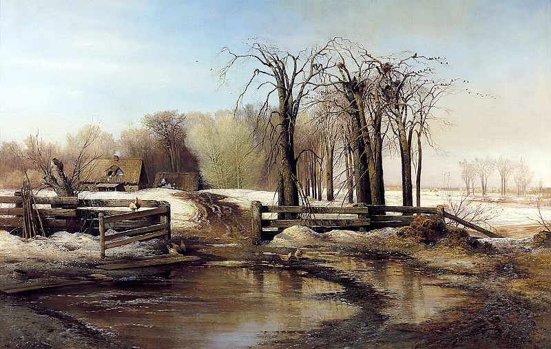 Alexei Savrasov - Spring Day. 900 Classic russian paintings