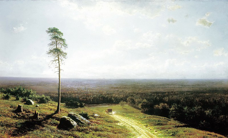 Klodt Mikhail (K.) - Forest horizon at noon. 1878. 900 Classic russian paintings