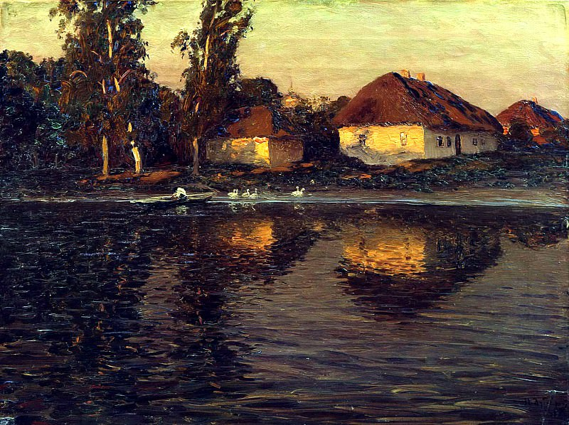 DUBOVSKAYA Nikolay - Evening in Ukraine. 900 Classic russian paintings
