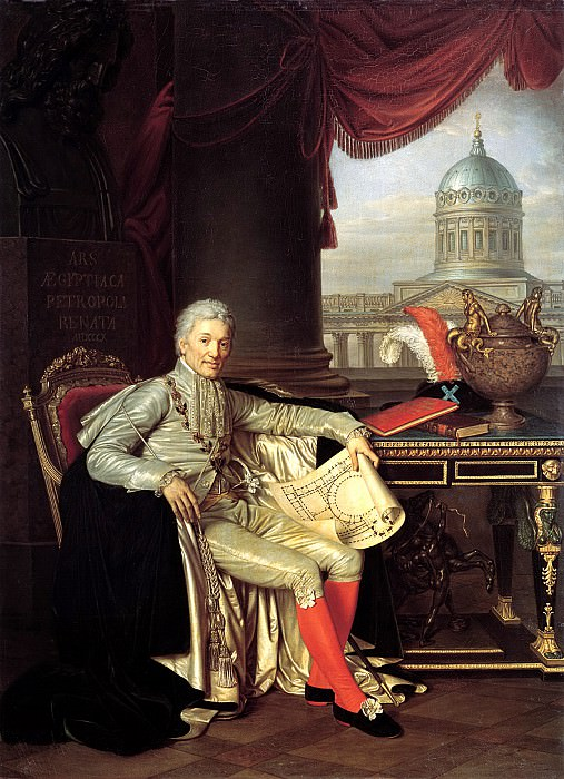 Warnecke Alexander - Portrait of privy councilor president of the Academy of Arts Count Stroganov. 1814. 900 Classic russian paintings