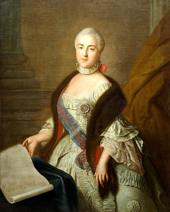 Argun Ivan - Portrait of Grand Duchess Catherine Alexeyevna. 900 Classic russian paintings
