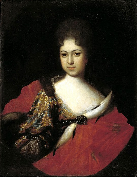 NIKITIN Ivan - Portrait of Princess Praskovya Ivanovna, a niece of Peter I. 900 Classic russian paintings