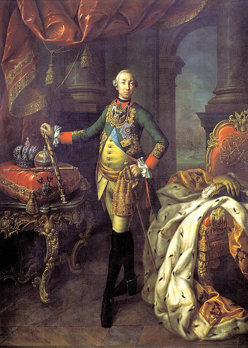 ANTROPOV Alexei - Portrait of Peter III. 900 Classic russian paintings