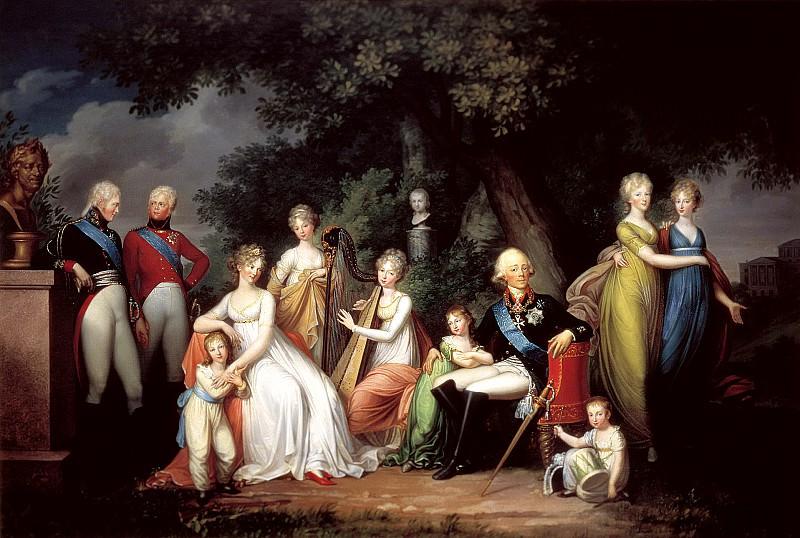 КЮГЕЛЬГЕН Герхард фон - Павел I, Мария Фёдоровна и их дети. 900 Картин самых известных русских художников