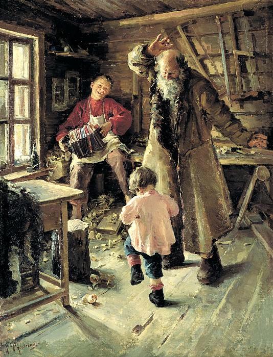РЖЕВСКАЯ Антонина - Весёлая минутка. 900 Картин самых известных русских художников