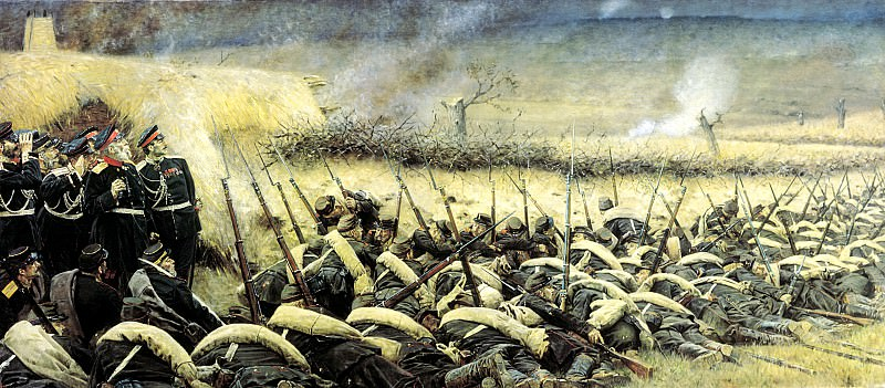 Vereshchagin Vasily (Vasilyevich) - Before the attack. Plevna. 900 Classic russian paintings