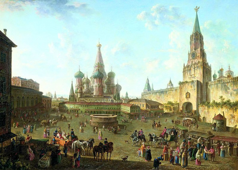 Fedor Alekseev - Red Square in Moscow. 900 Classic russian paintings