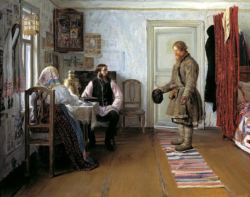 БОГДАНОВ Иван - За расчётом. 900 Картин самых известных русских художников