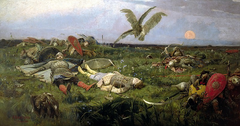 Viktor Vasnetsov - After Igors battle with Polovtsy. 900 Classic russian paintings