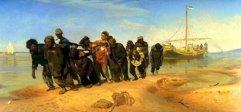 Ilya Repin - Volga Boatmen. 900 Classic russian paintings