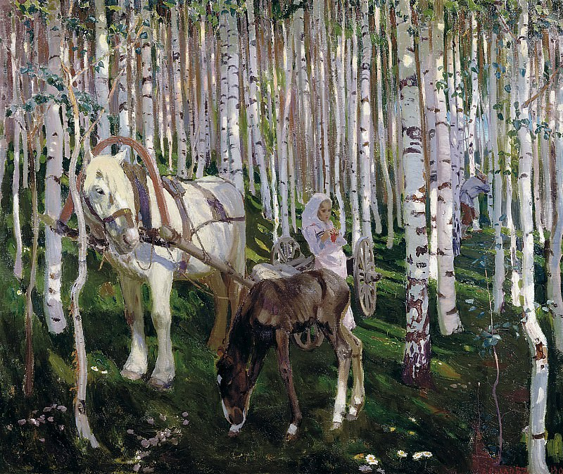 Rylov Arcade - In the woods. 900 Classic russian paintings
