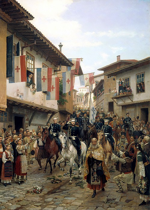 Nikolai Dmitriev-Orenburgsky - Entrance of Grand Duke Nikolai Nikolaevich Tarnovo, June 30, 1877. 900 Classic russian paintings