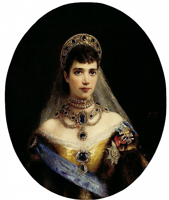 MAKOVSKY Constantin - Portrait of Empress Maria Feodorovna, wife of Alexander III. 900 Classic russian paintings