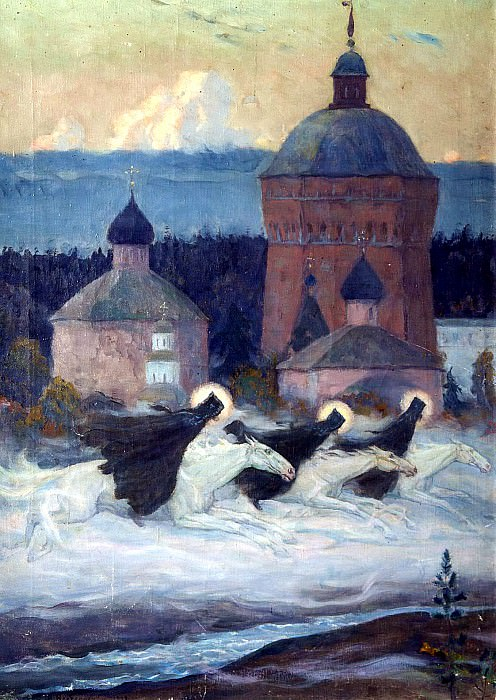 Nesterov Mikhail - Riders. 900 Classic russian paintings