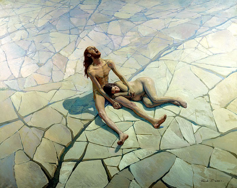 Pavel Popov - Adam and Eve. Paradise Lost. 900 Classic russian paintings