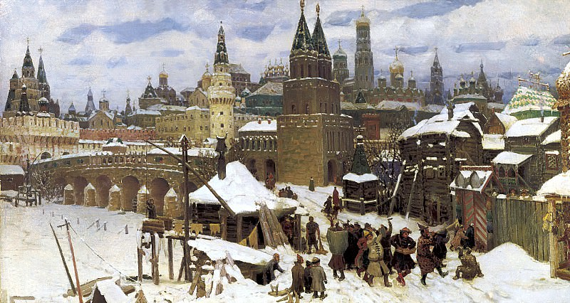 Vasnetsov Apollinaris - Saints stone bridge. Moscow end of the XVII century. 900 Classic russian paintings