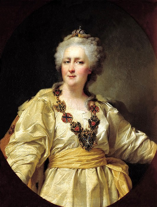 Levitsky Dmitry - Portrait of Empress Catherine II. 1794. 900 Classic russian paintings