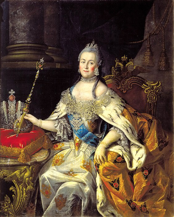 Antropov Alexey - Portrait of Empress Catherine II. 900 Classic russian paintings