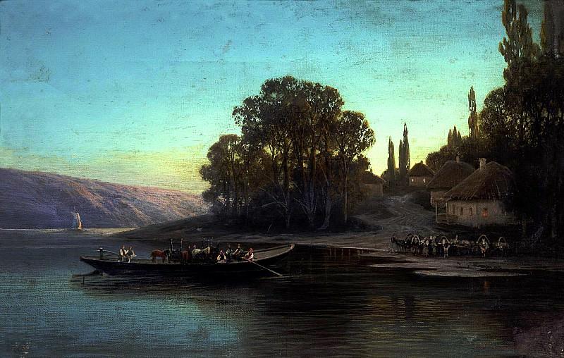 Sukhodolskiy Peter - Night landscape. 900 Classic russian paintings