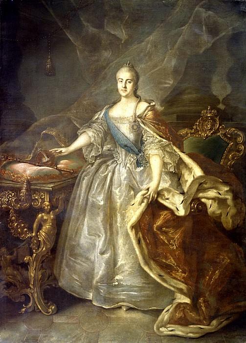 Argun Ivan - Portrait of Catherine II. 900 Classic russian paintings