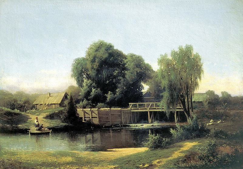 Brick Leo - at the dam. 900 Classic russian paintings